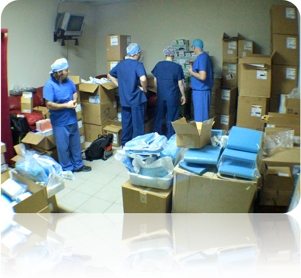 Operation Walk Freedom to Move arrives at Juan Bosch Hospital in the Dominican Republic.